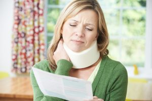 car accident lawyers in Houston woman with neck injury
