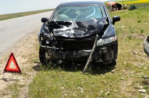 car accident lawyers in houston wrecked car